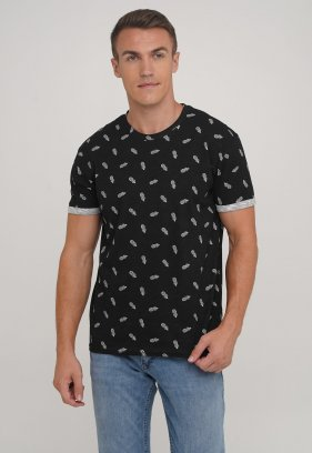 Футболка Trend Collection 2219 черный + ананас