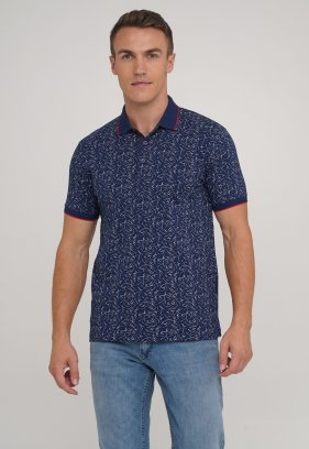 Футболка Trend Collection 1706-04 Синий+белые черточки