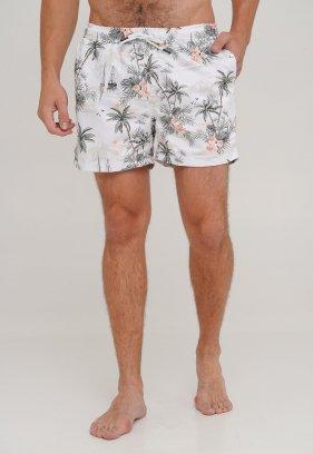 Шорты Trend Collection 95283 Белый+цветы