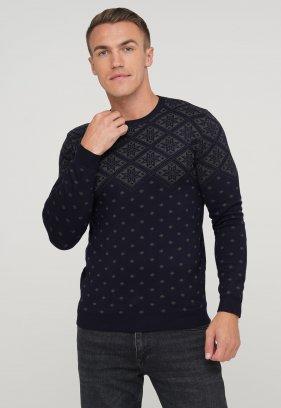 Свитер Trend Collection 9685 Темно-синий+серый