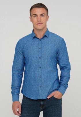 Рубашка Trend Collection 10412 Синий+цветы