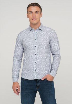 Рубашка Trend Collection 10412 Серый+цветы V05
