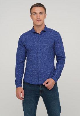 Рубашка Trend Collection 10358 Темно-синий+узор V04