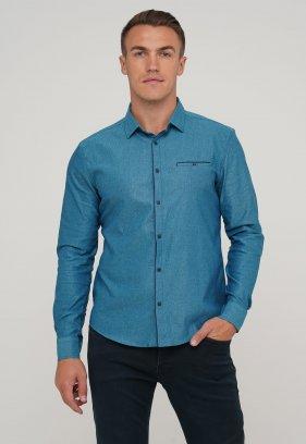 Рубашка Trend Collection 10268 Изумруд