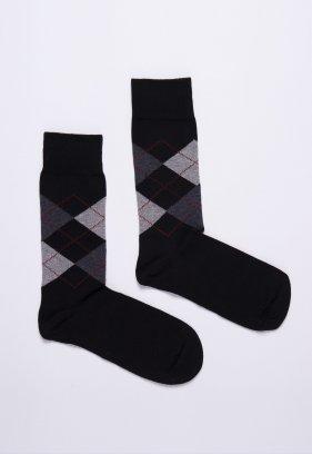 Носки JOHN-FRANK JFLS17W02 Черный+серый ромб