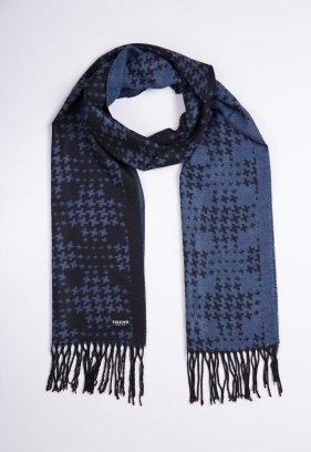 Шарф Trend Collection STK-02 Черный+голубой