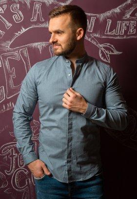 Серая рубашка Trend