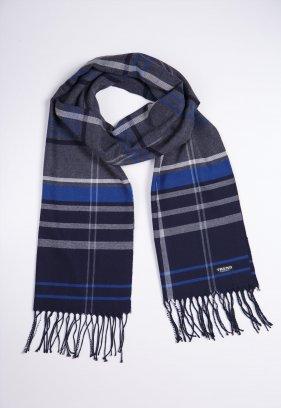 Шарф Trend Collection STK-10 Серый+синий+белый