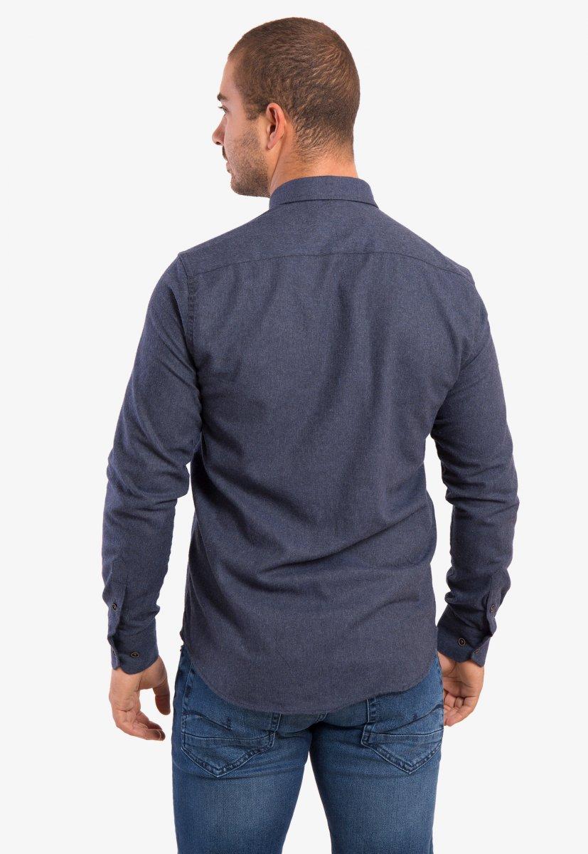 Рубашка темно-синяя Trend - Фото