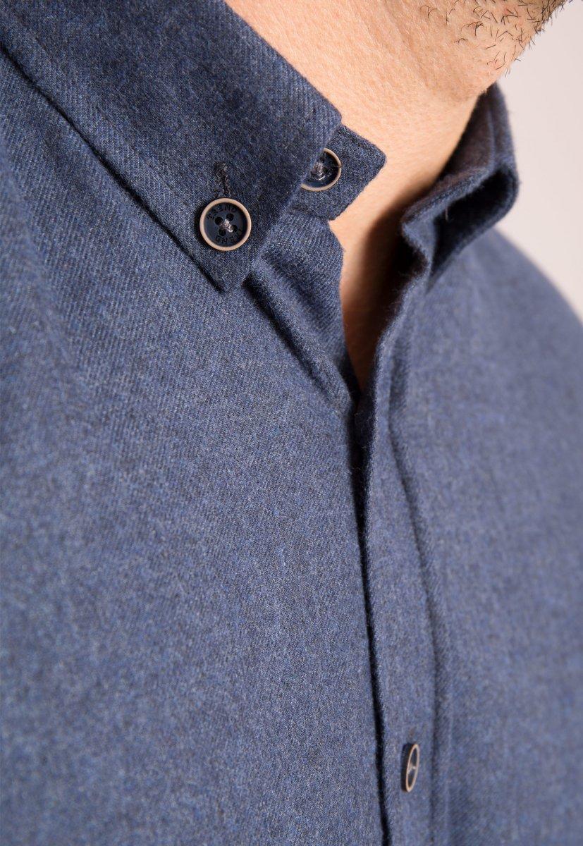 Рубашка темно-синяя Trend - Фото 1