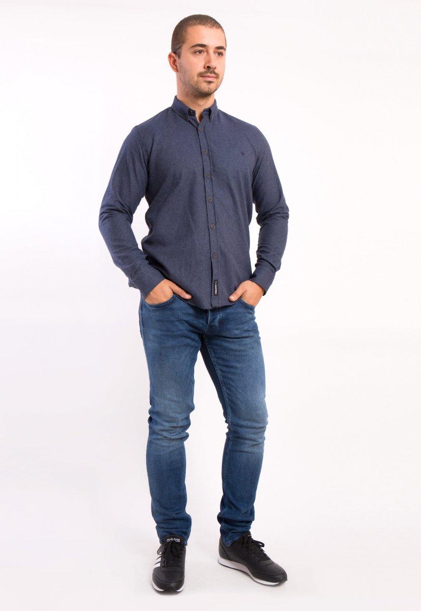 Рубашка темно-синяя Trend - Фото 2