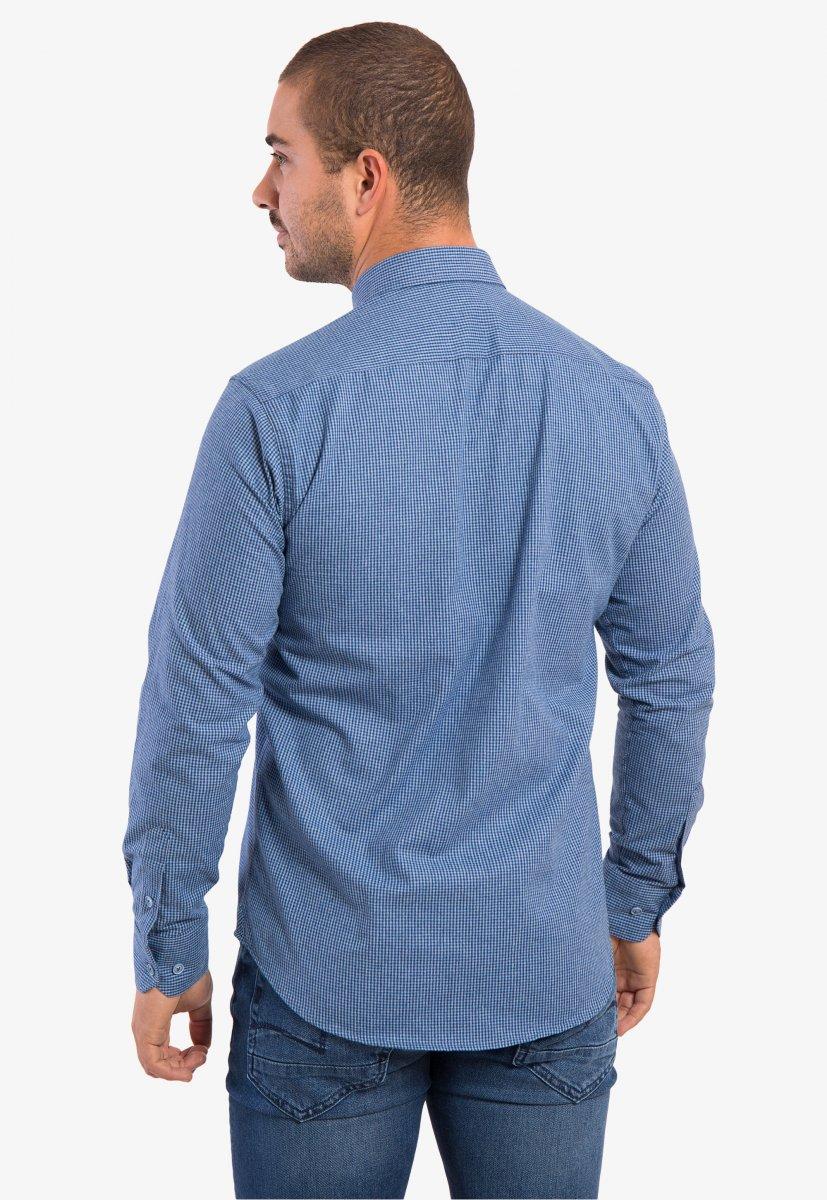 Рубашка небесная клетка Trend - Фото