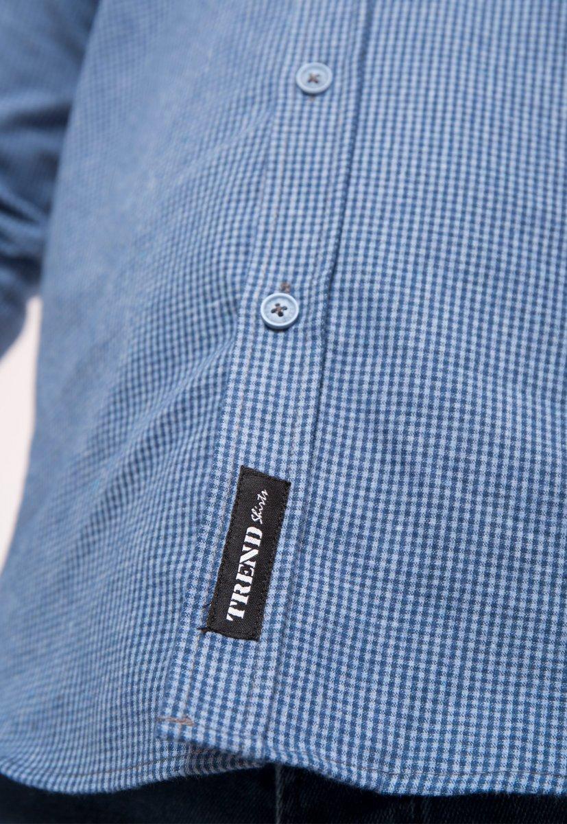 Рубашка небесная клетка Trend - Фото 1