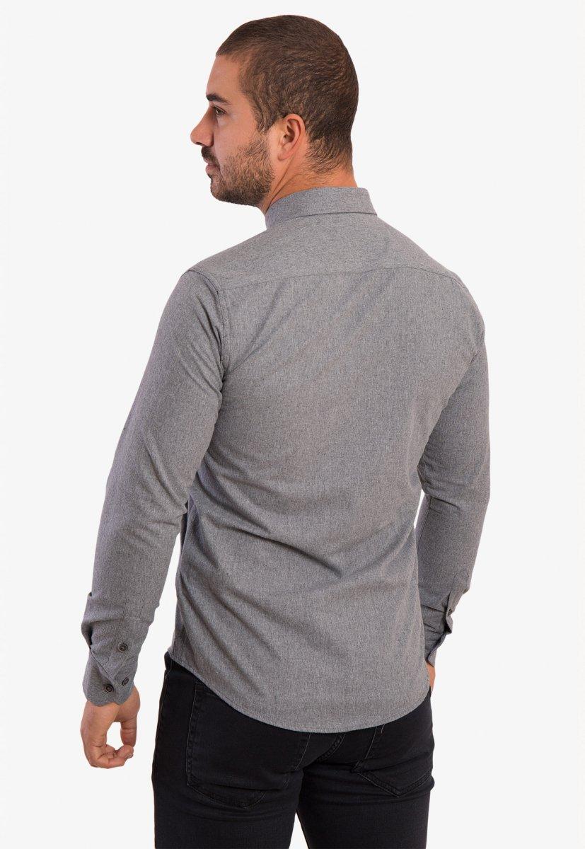 Серая рубашка Trend 02-1001 - Фото