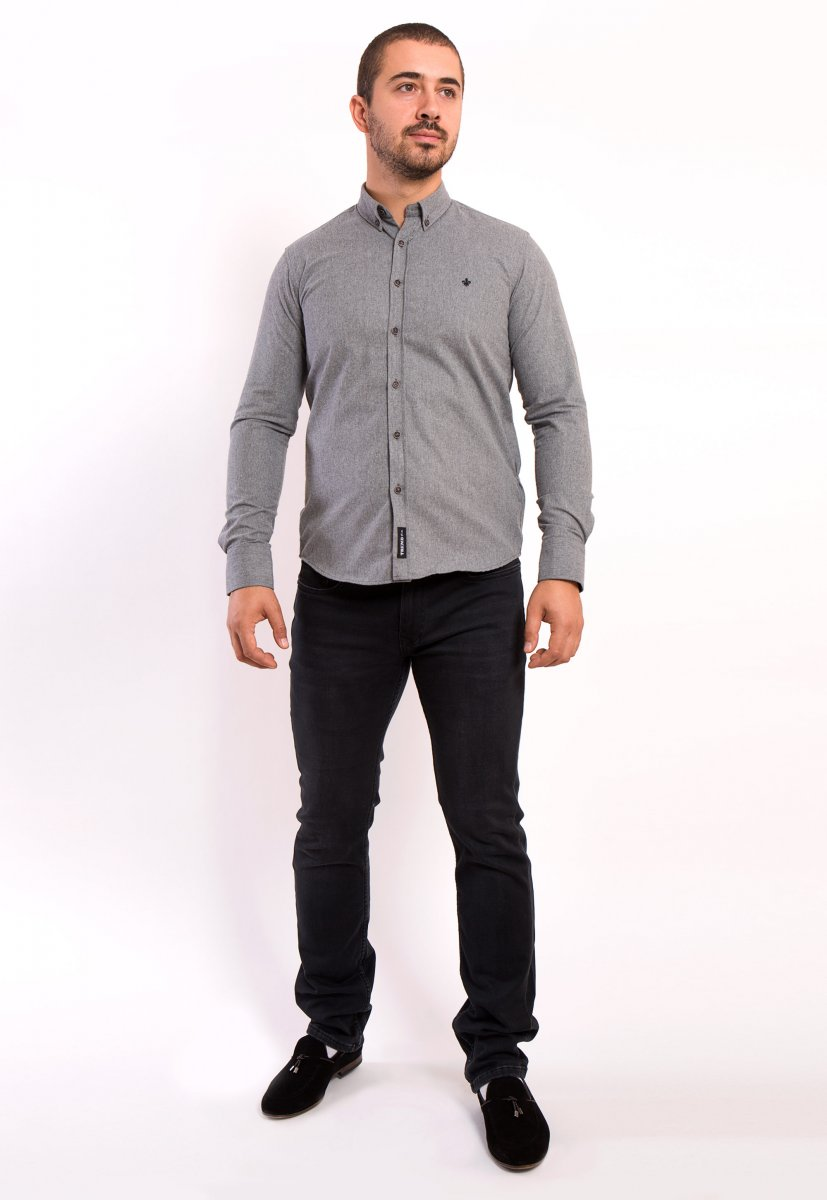 Серая рубашка Trend 02-1001 - Фото 1