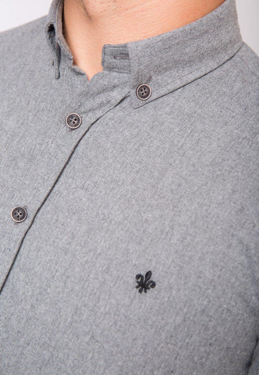 Серая рубашка Trend 02-1001 - Фото 2