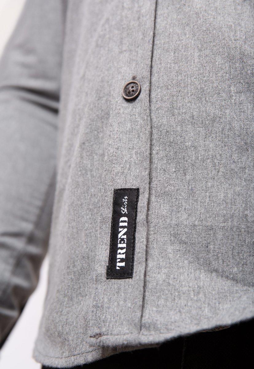 Серая рубашка Trend 02-1001 - Фото 3