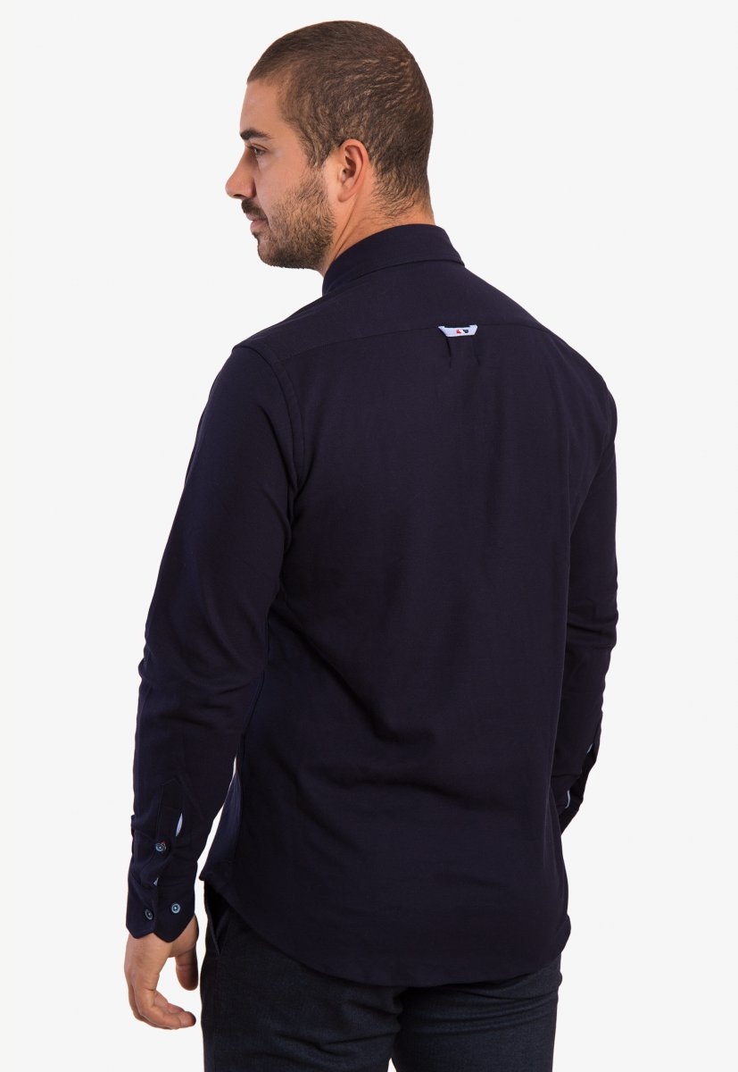 Темно-синяя рубашка Trend 2783 - Фото