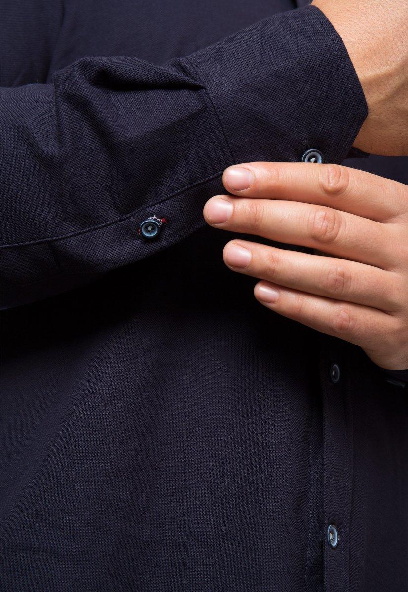 Темно-синяя рубашка Trend 2783 - Фото 2