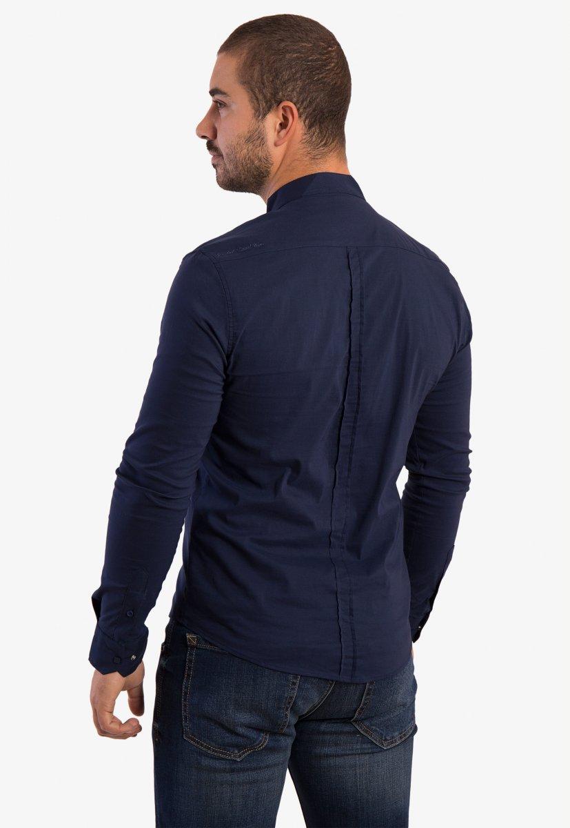 Рубашка синяя Trend 2738 - Фото