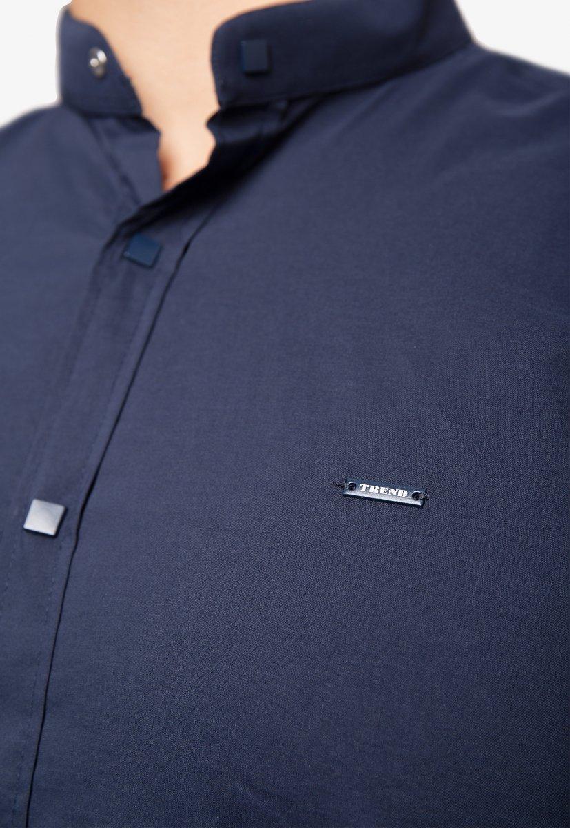 Рубашка синяя Trend 2738 - Фото 3