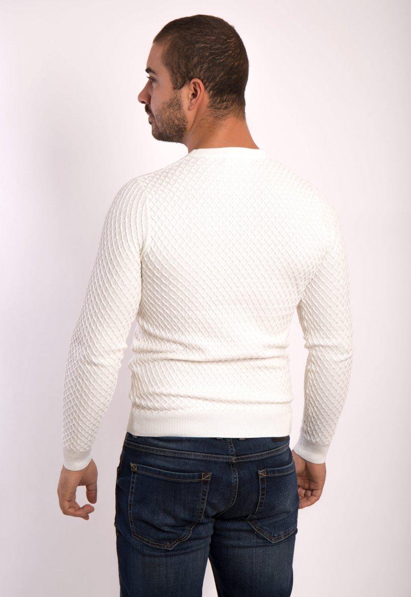 Белый свитер  Trend 6652 - Фото