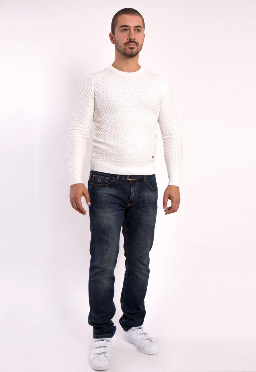 Белый свитер  Trend 6652 - Фото 2