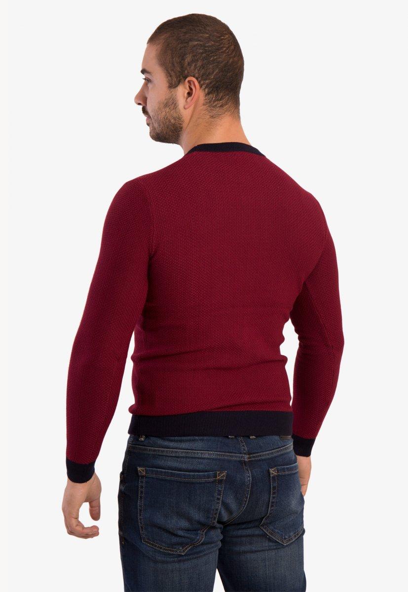 Бордовый свитер Trend 671 - Фото 1