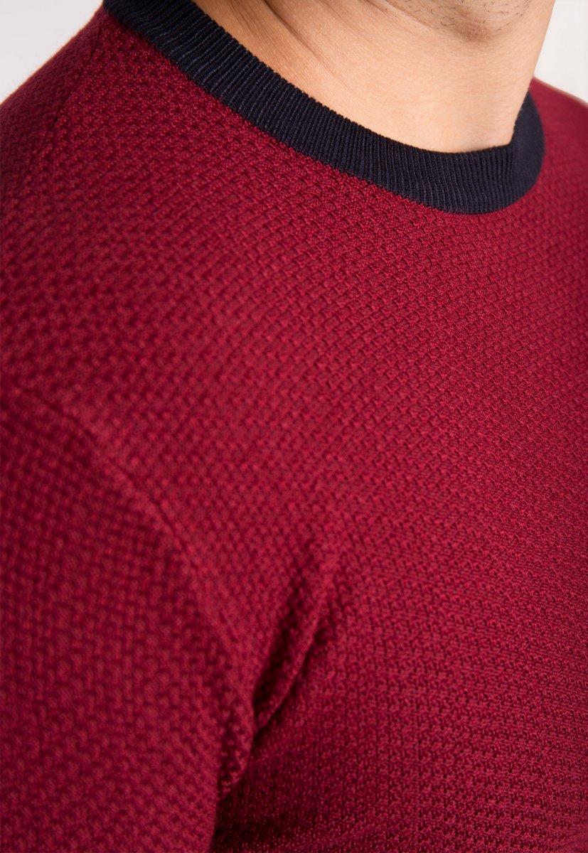 Бордовый свитер Trend 671 - Фото 2