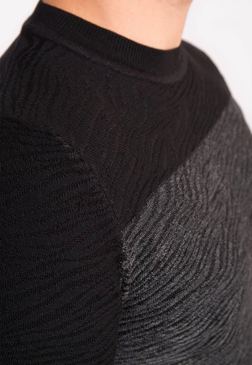 Свитер серо-черный Trend 9005 - Фото