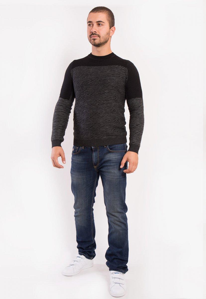 Свитер серо-черный Trend 9005 - Фото 2