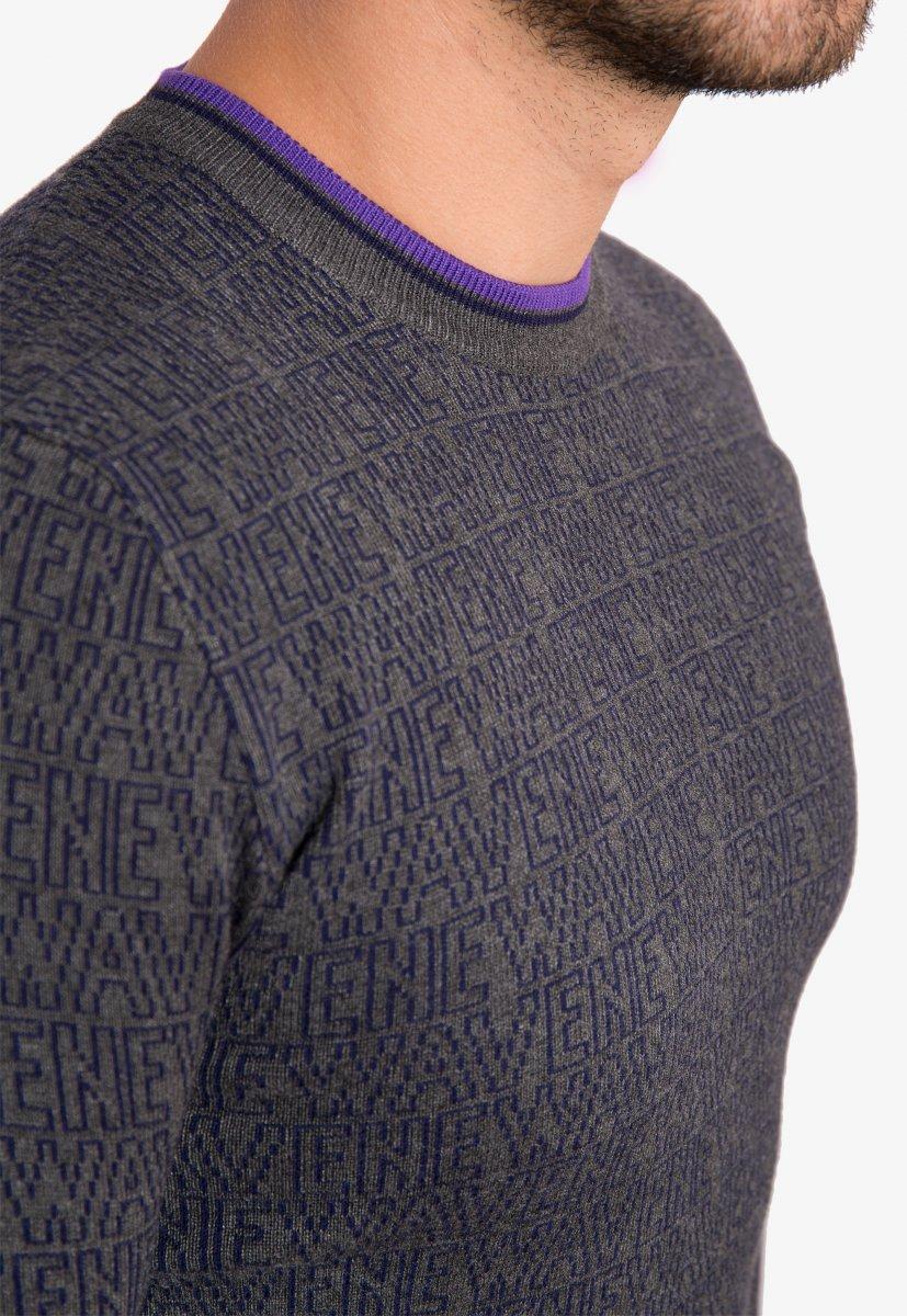 Свитер серый Trend 825 - Фото 2