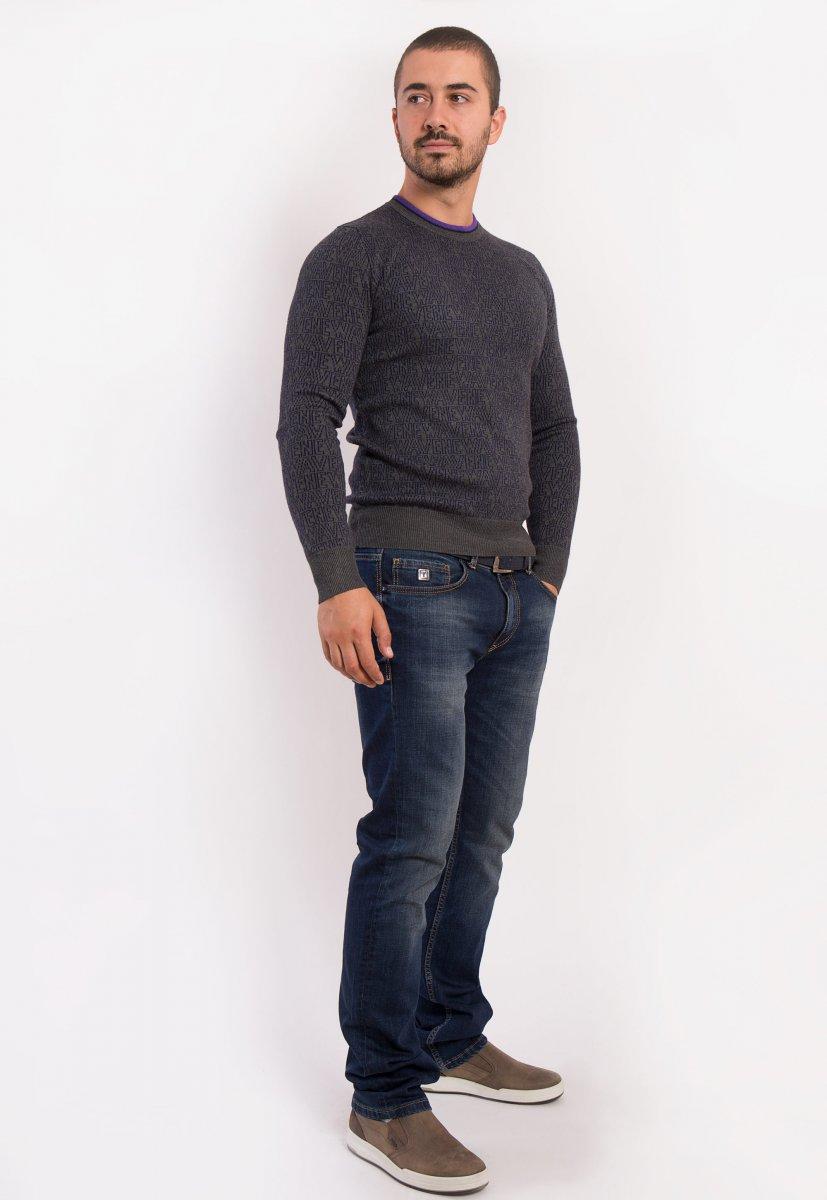 Свитер серый Trend 825 - Фото 3