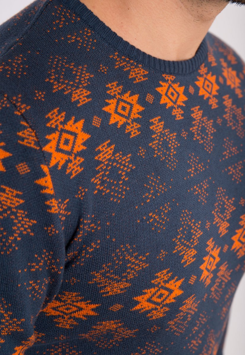Свитер индиго Trend 066 - Фото