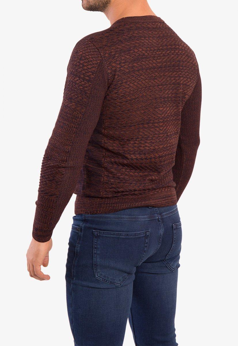 Свитер коричневый Trend 6640 - Фото