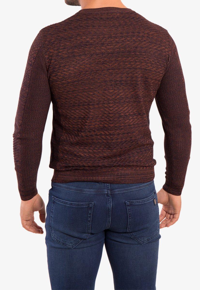 Свитер коричневый Trend 6640 - Фото 1