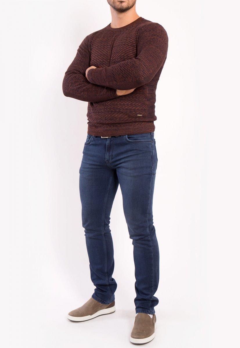 Свитер коричневый Trend 6640 - Фото 2