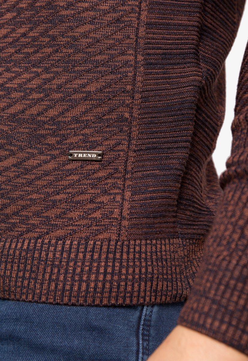 Свитер коричневый Trend 6640 - Фото 4