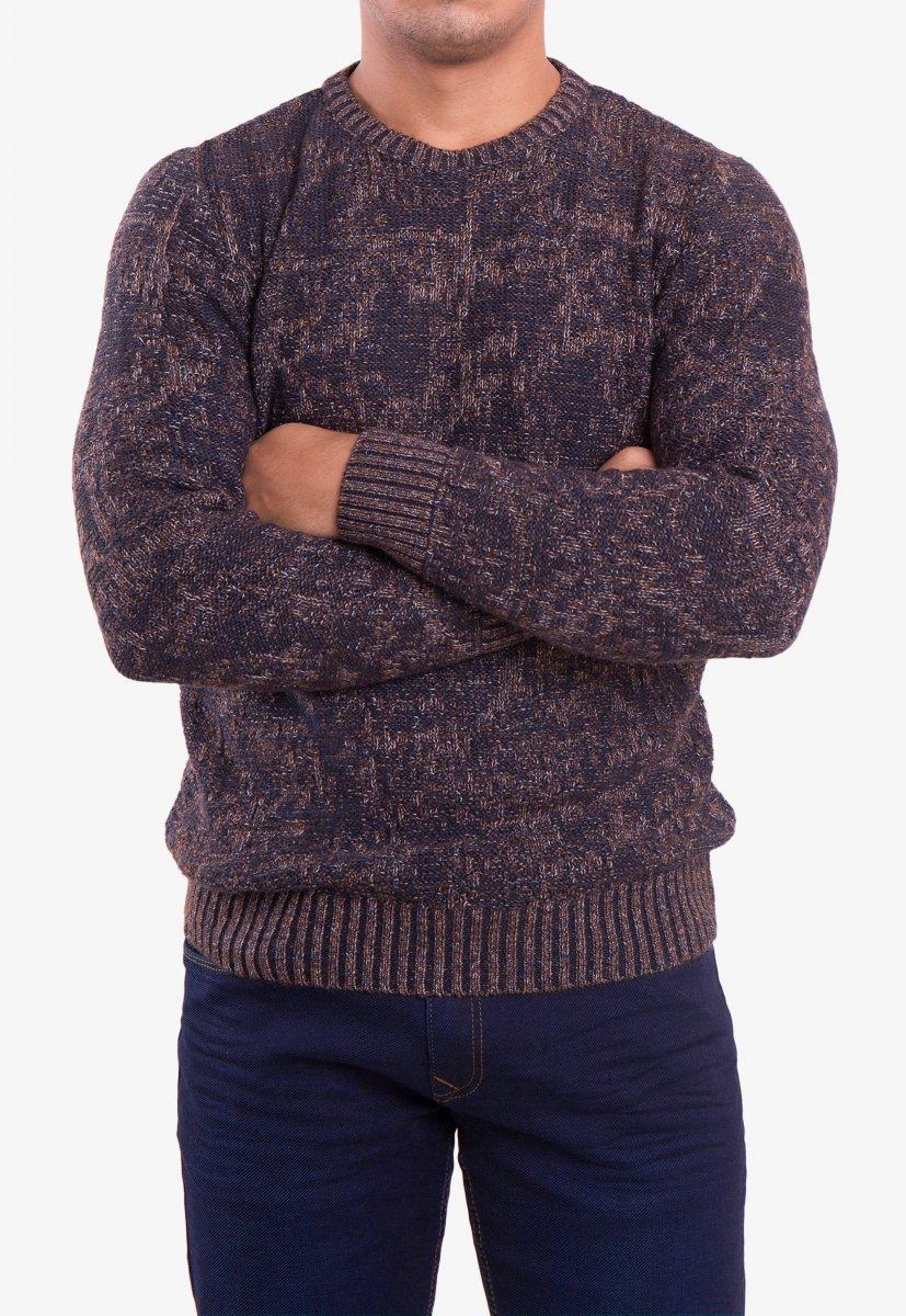 Свитер коричневый Trend 18906 - Фото