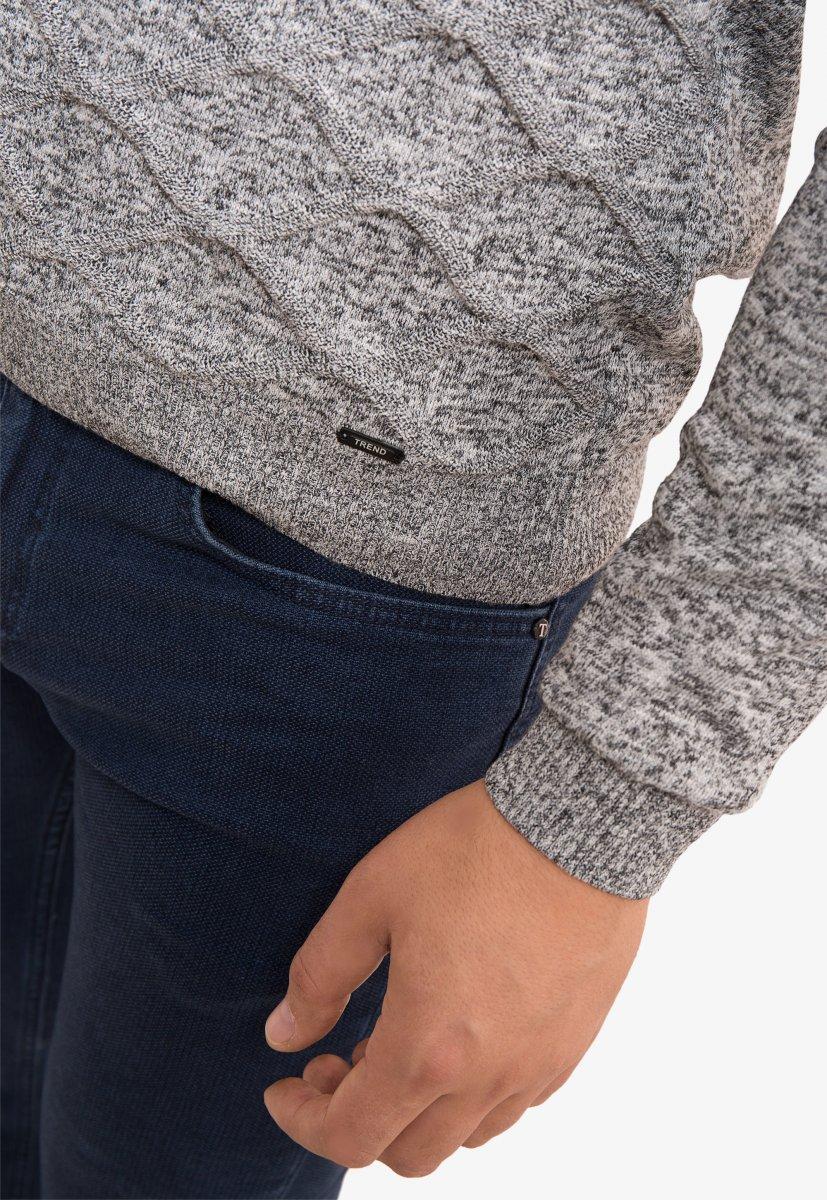 Свитер серый Trend 0293 - Фото 2