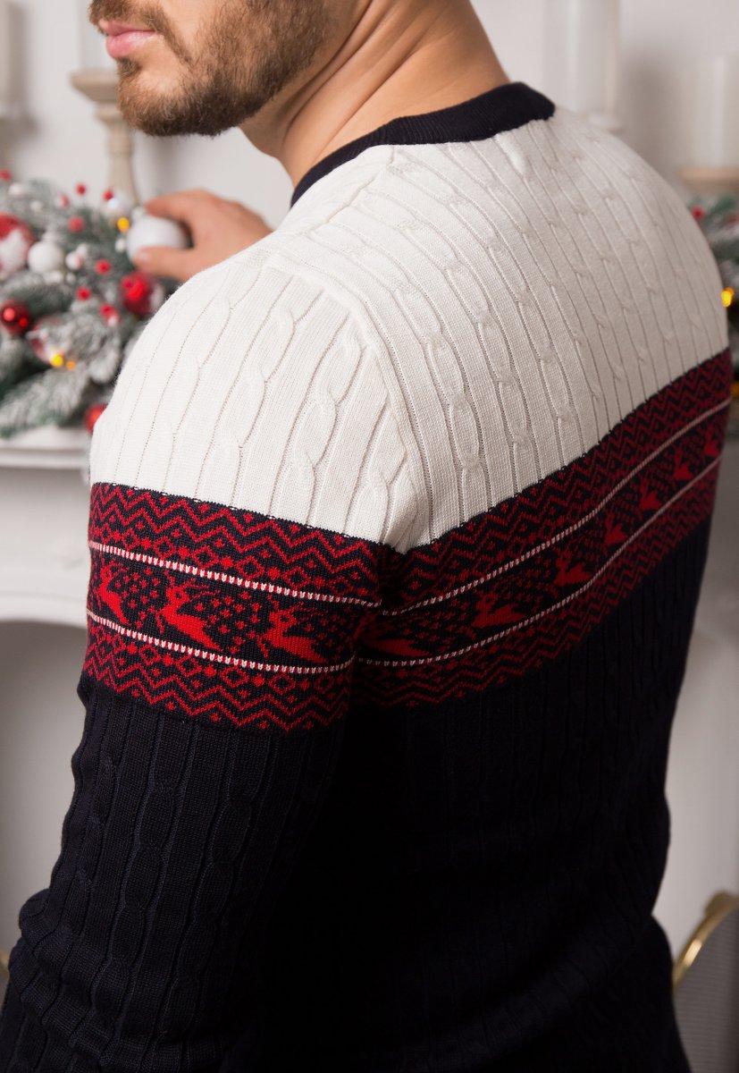 Свитер с оленями Trend 77043 - Фото 3