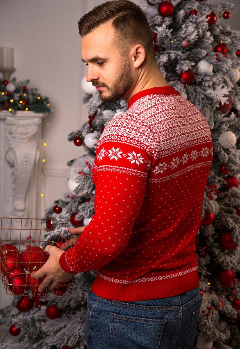 Свитер красный с оленями Trend 77044 - Фото 2