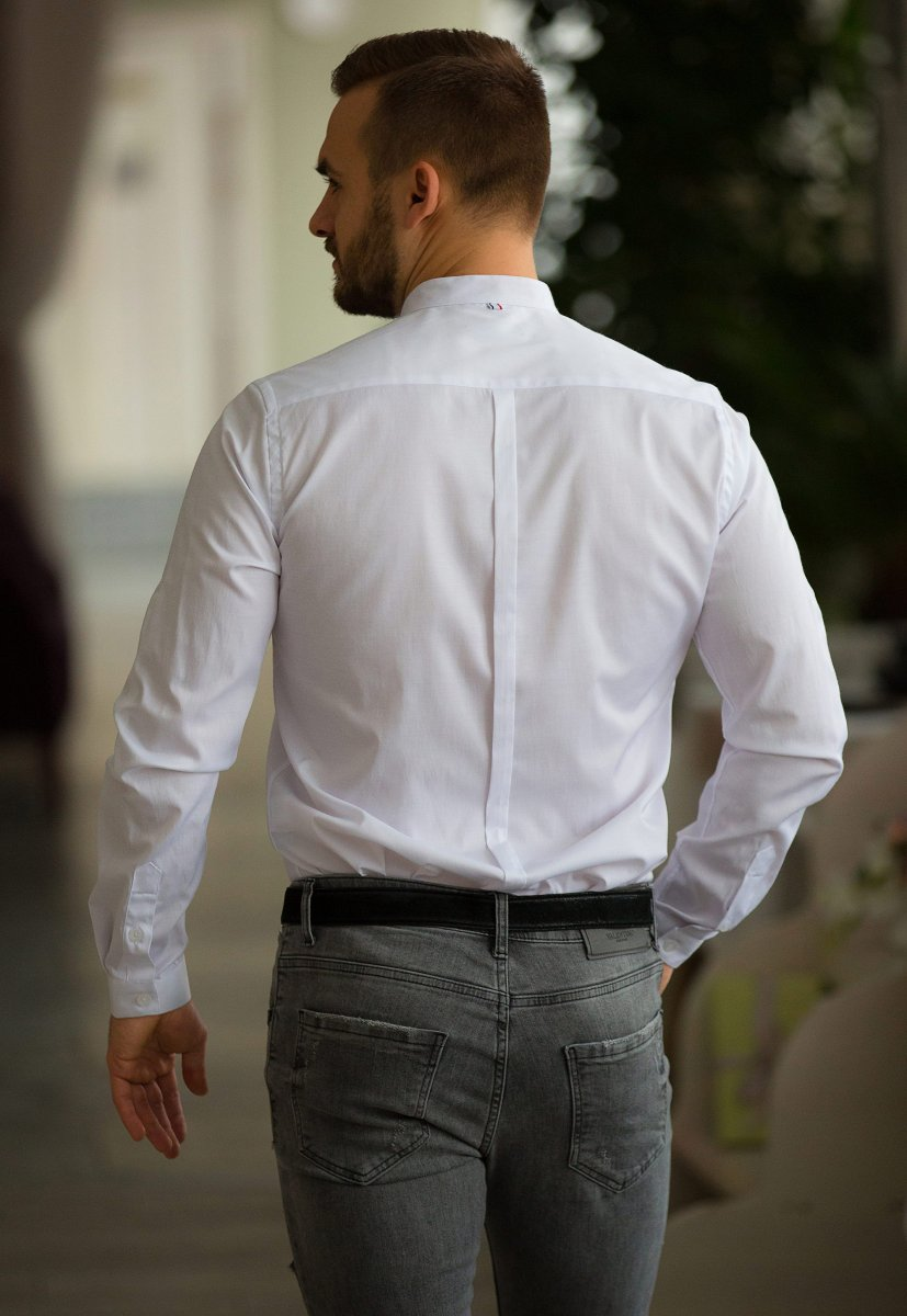 Белая рубашка Trend 02-1093 - Фото