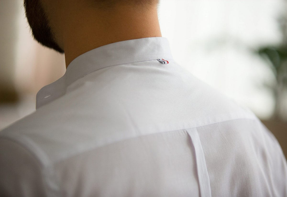 Белая рубашка Trend 02-1093 - Фото 3