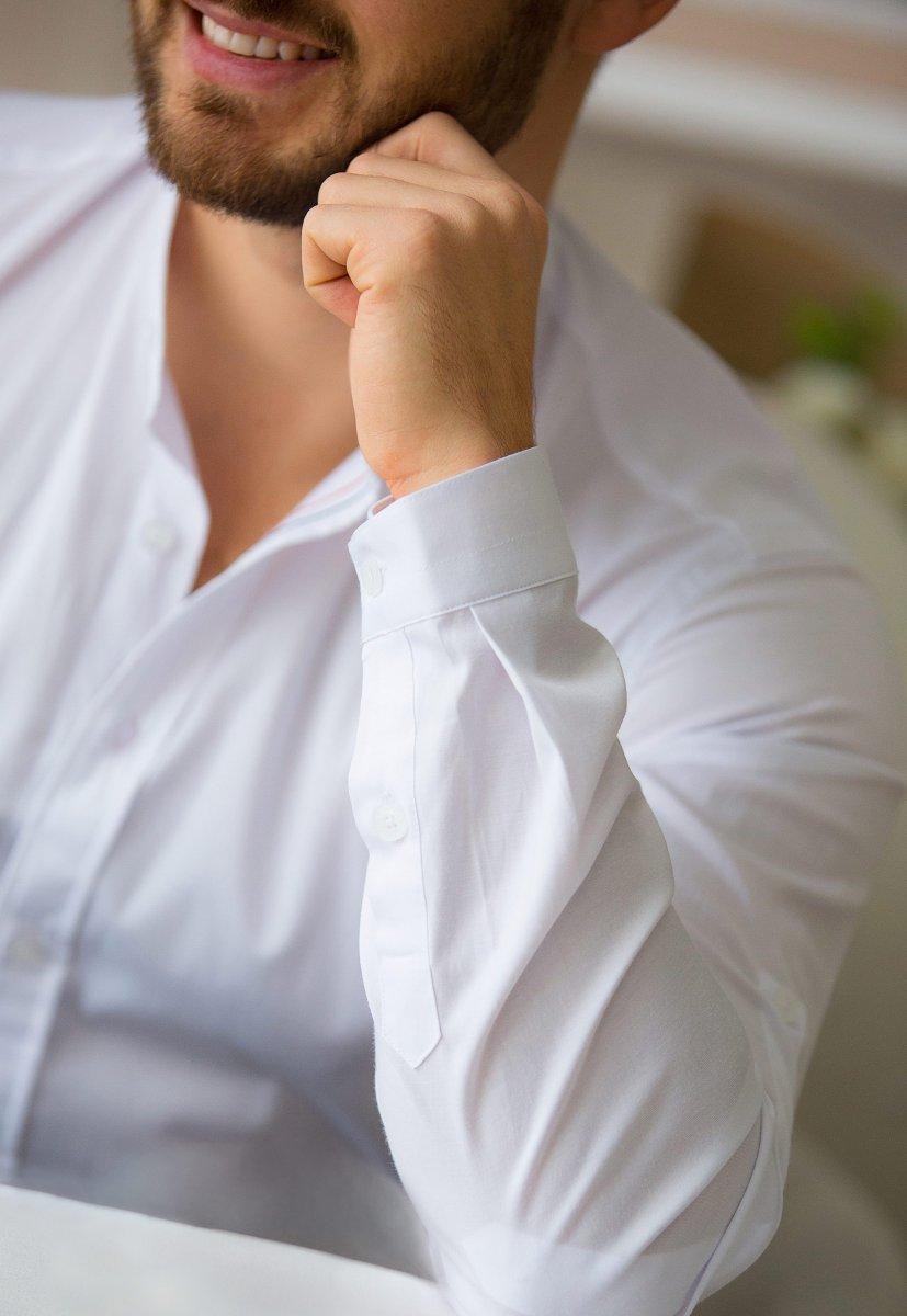 Белая рубашка Trend 02-1093 - Фото 4