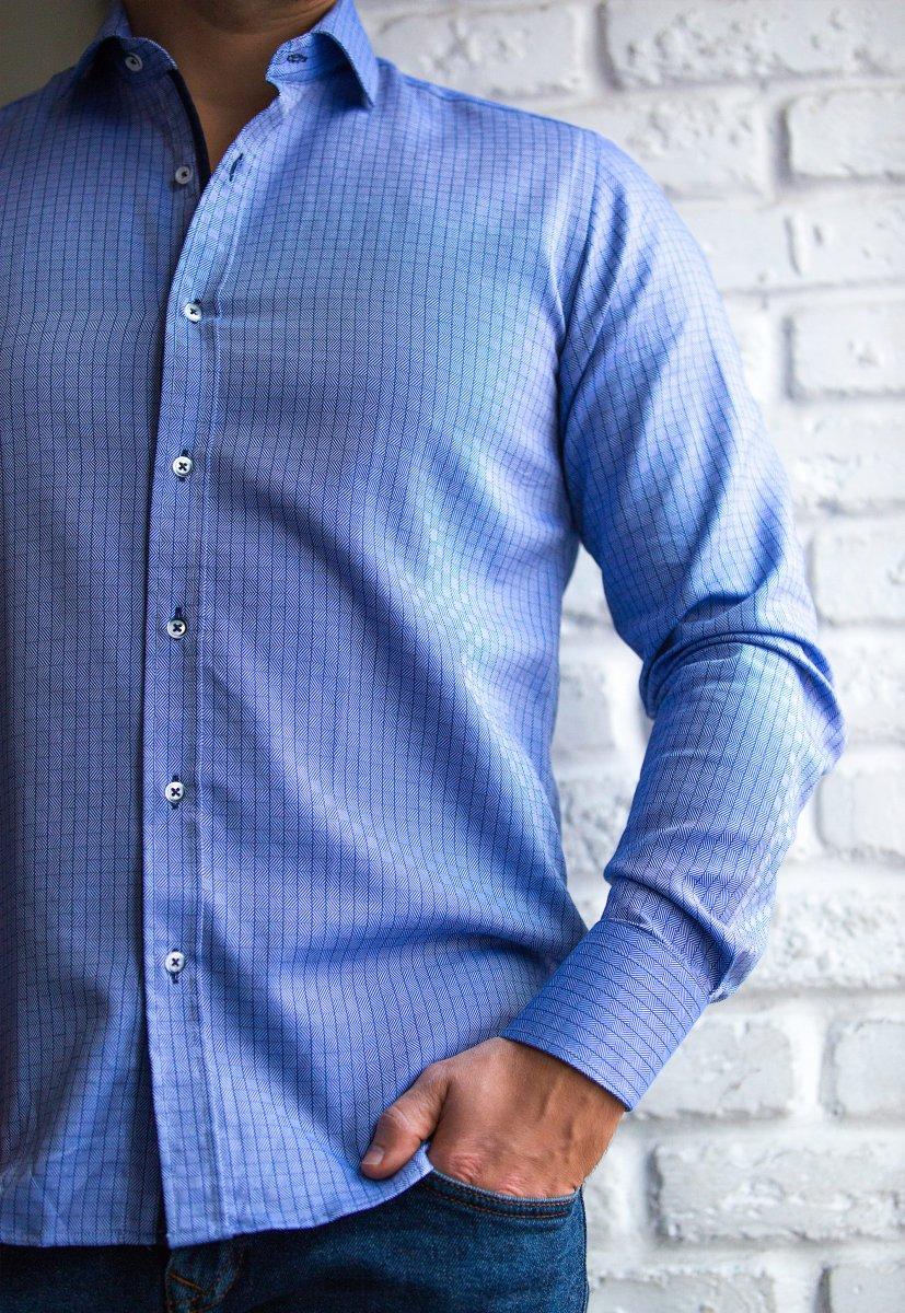 Небесная рубашка Trend 02-1091 - Фото 1
