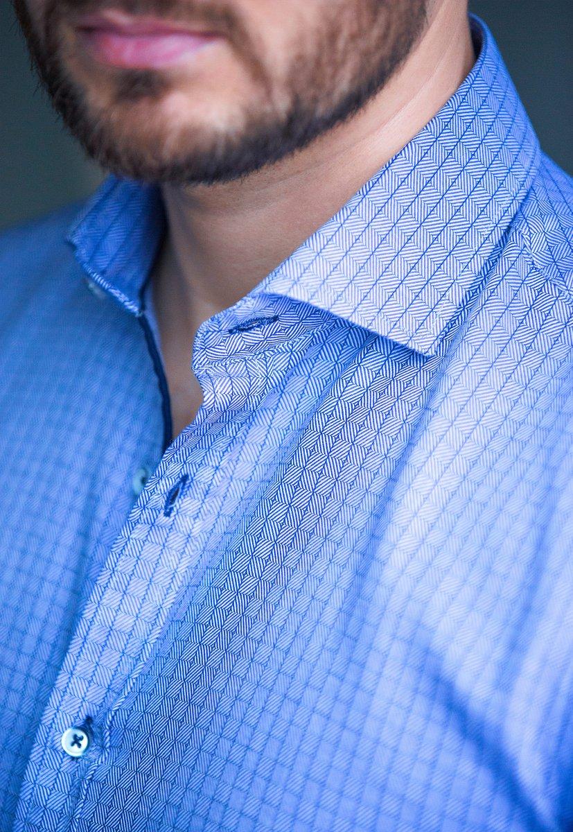 Небесная рубашка Trend 02-1091 - Фото 3