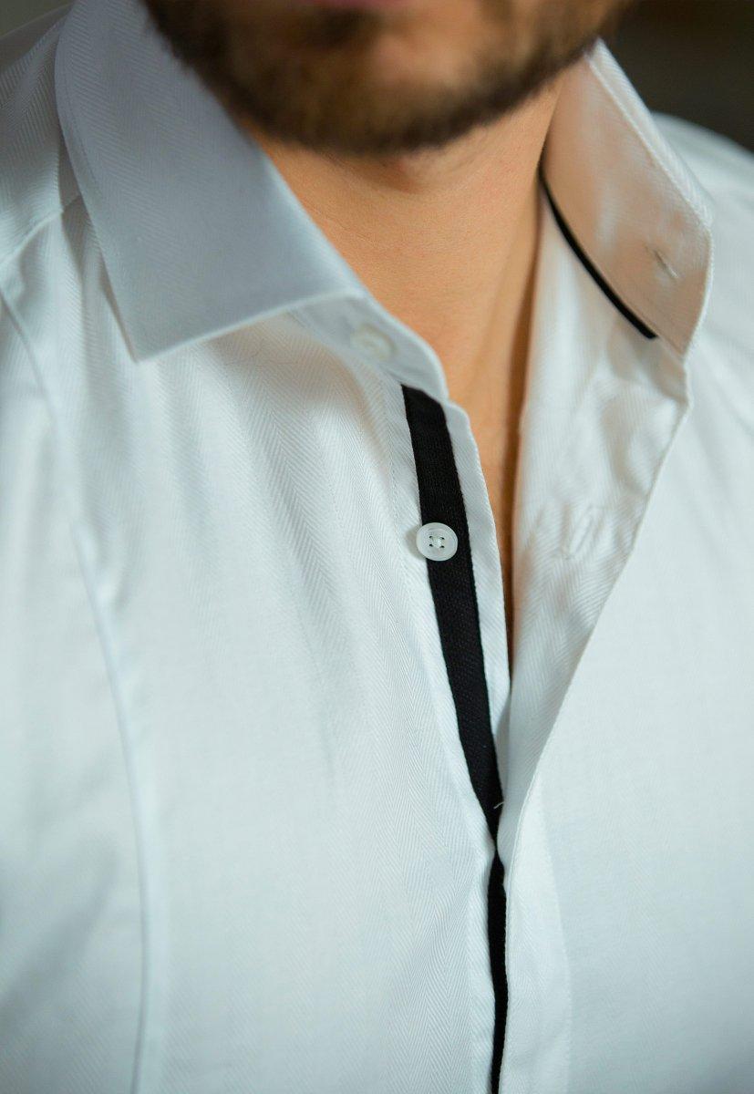 Белая рубашка Trend 02-531 - Фото