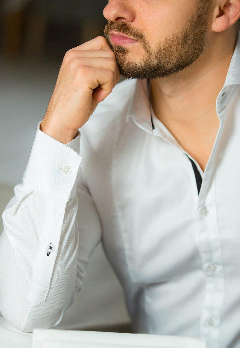 Белая рубашка Trend 02-531 - Фото 1