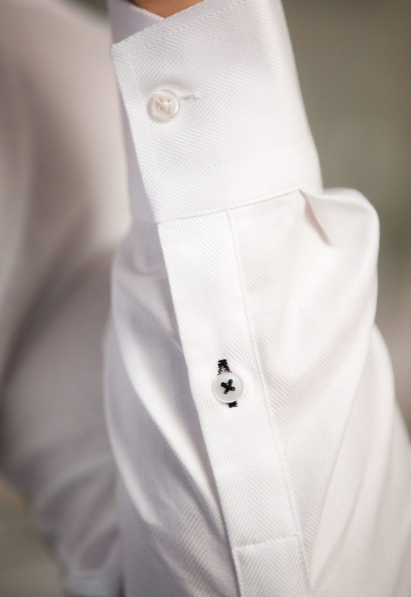Белая рубашка Trend 02-531 - Фото 3